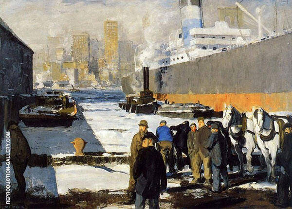 Men of The Docks 1912 By George Bellows