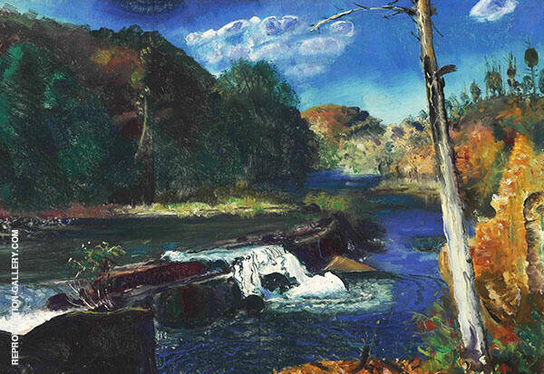 Mill Dam By George Bellows