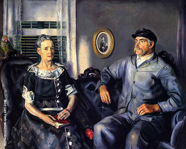 Mr and Mrs Phillip Wise 1924 Painting By George Bellows