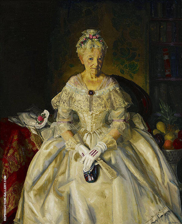 Mrs T in Cream Silk Painting By George Bellows - Reproduction Gallery