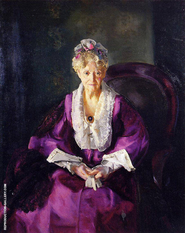 Mrs T in Wine Silk 1919 By George Bellows
