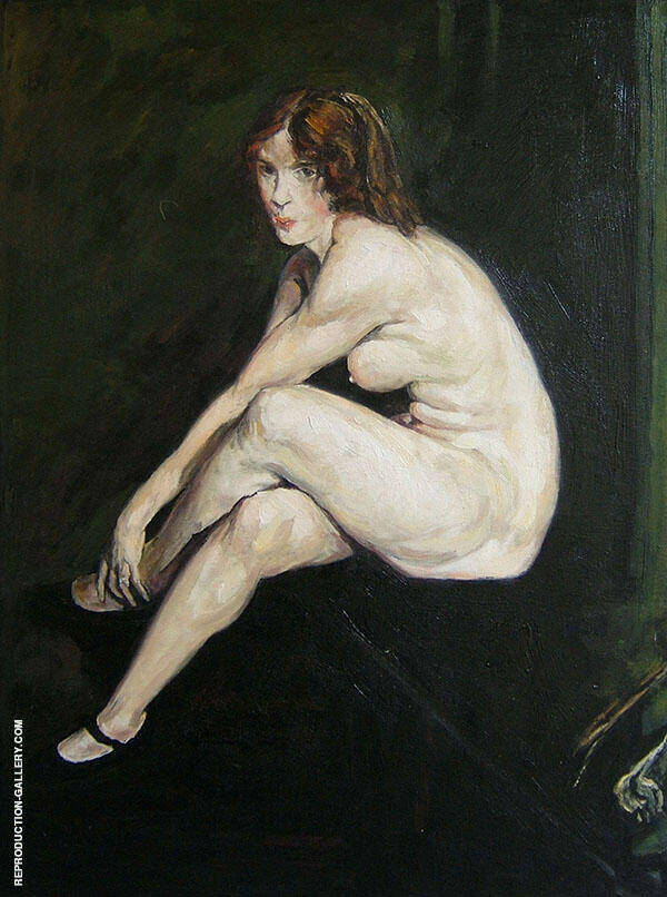 Nude Girl Miss Leslie Hall Painting By George Bellows