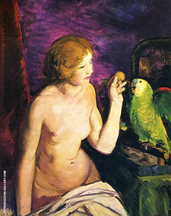 Nude with a Parrot By George Bellows