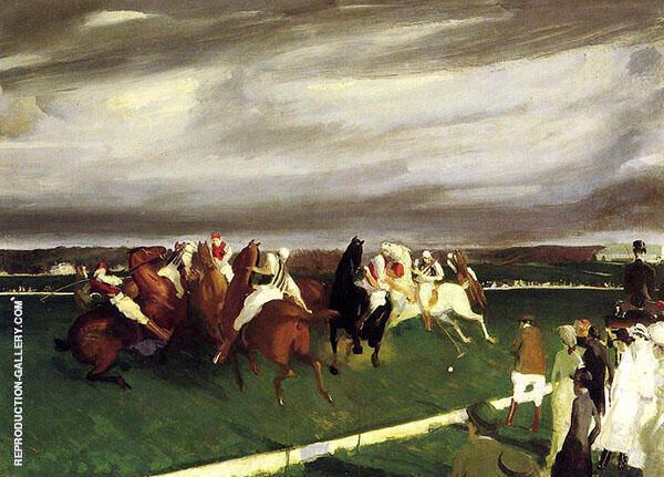 Polo at Lakewood 1910 Painting By George Bellows - Reproduction Gallery