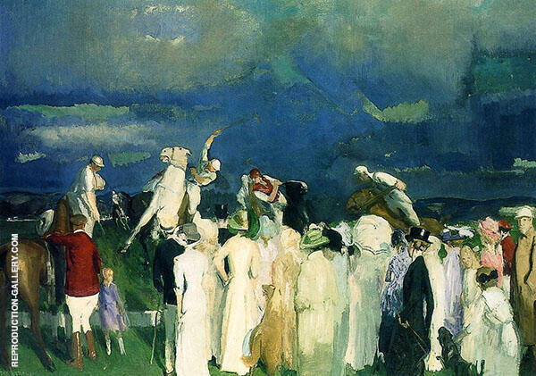 Polo Crowd 1910 Painting By George Bellows - Reproduction Gallery