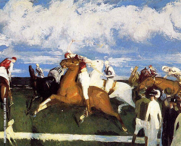 Polo Game 1910 Painting By George Bellows - Reproduction Gallery