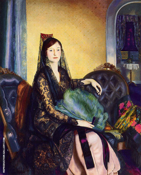 Portrait of Elizabeth Alexander 1924 Painting By George Bellows