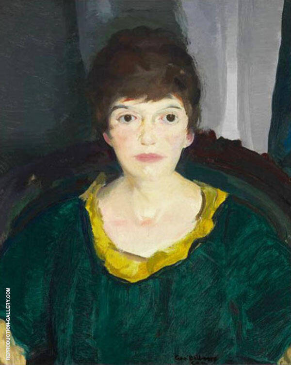 Portrait of Emma in Night Light 1914 By George Bellows