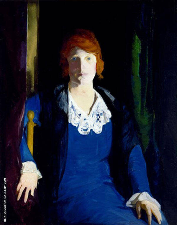 Portrait of Florence Pierce 1914 Painting By George Bellows