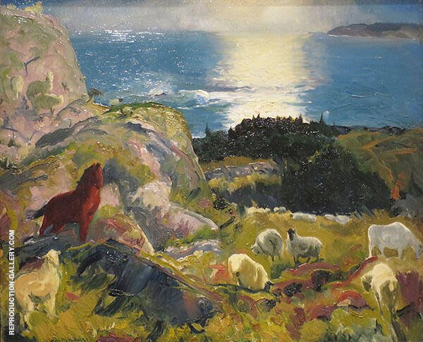 Romance of Criehaven 1916 Painting By George Bellows