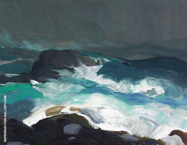 Sea in Fog Painting By George Bellows - Reproduction Gallery