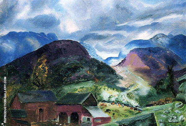 Snow Capped Mountains 1920 By George Bellows