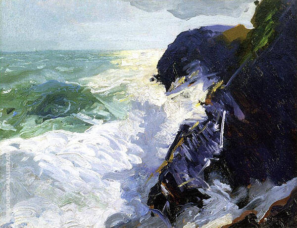Sun and Spray Painting By George Bellows - Reproduction Gallery