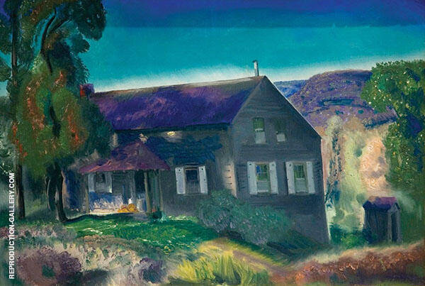 The Black House 1924 Painting By George Bellows - Reproduction Gallery