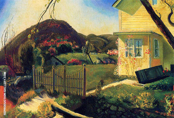 The Picket Fence 1924 Painting By George Bellows - Reproduction Gallery
