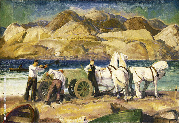 The Sand Cart Painting By George Bellows - Reproduction Gallery