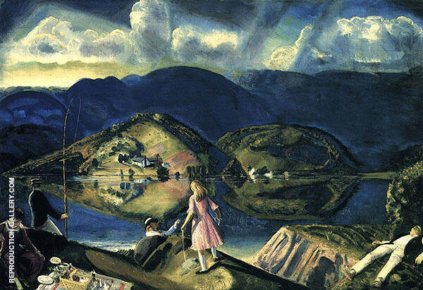 The Picnic 1924 Painting By George Bellows - Reproduction Gallery