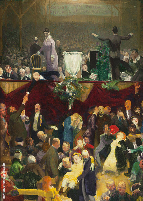 The Sawdust Trail 1916 Painting By George Bellows - Reproduction Gallery