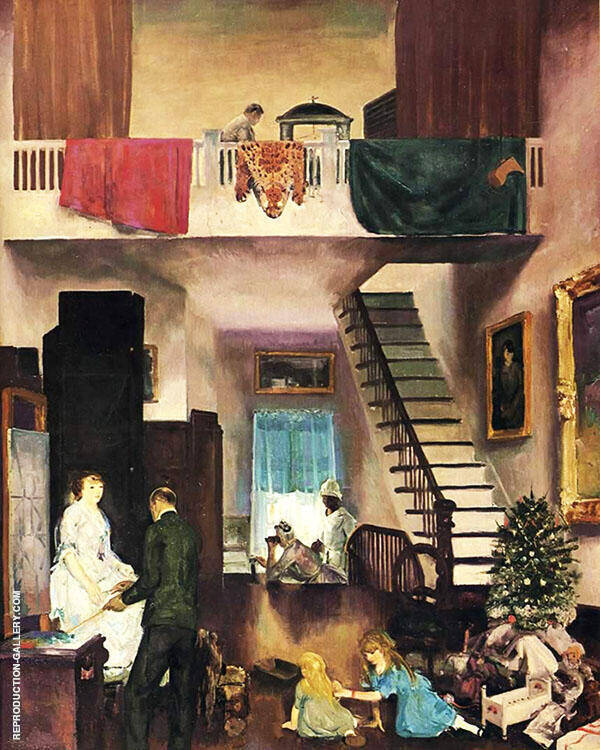The Studio Painting By George Bellows - Reproduction Gallery