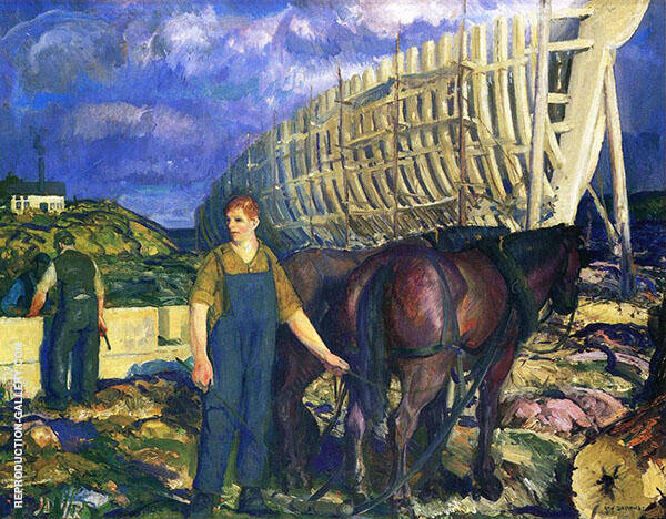 The Teamster Painting By George Bellows - Reproduction Gallery