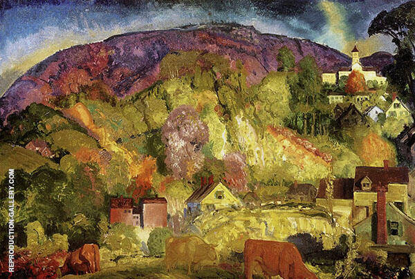 The Village on The Hill 1917 By George Bellows