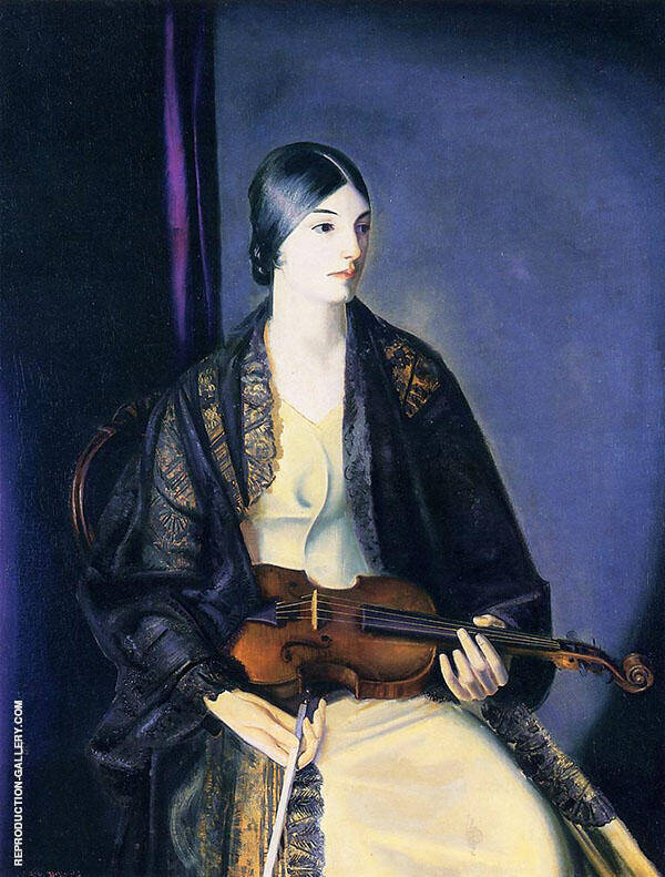 The Violinist Leila Kalman 1924 Painting By George Bellows