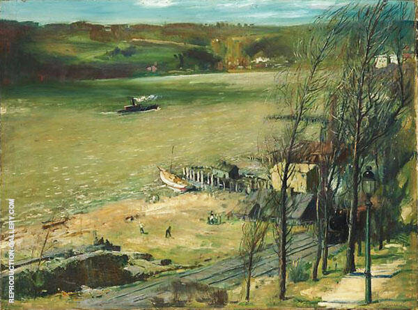Up The Hudson Painting By George Bellows - Reproduction Gallery