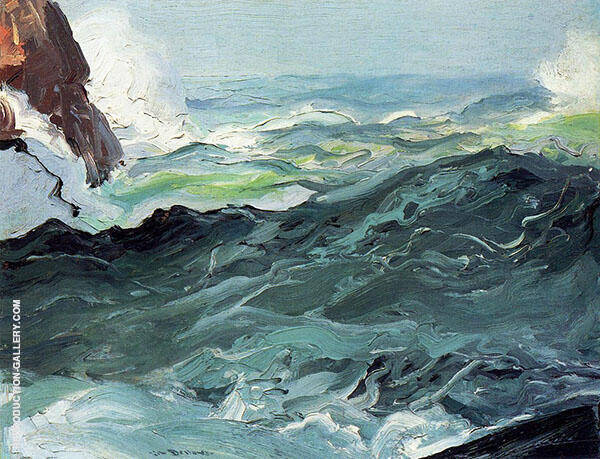 Wave 1913 Painting By George Bellows - Reproduction Gallery