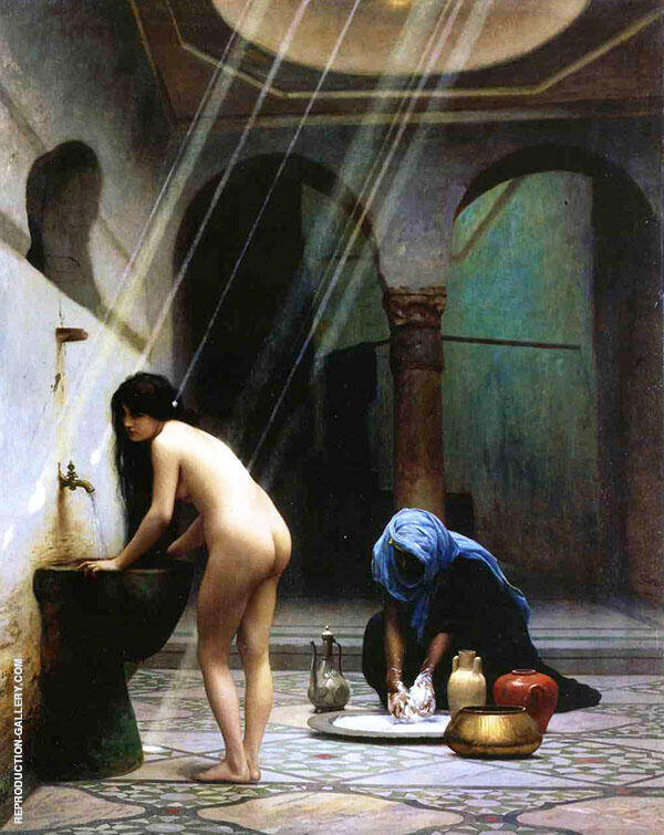 A Moorish Bath aka Turkish Woman Bathing 1870 By Jean Leon Gerome