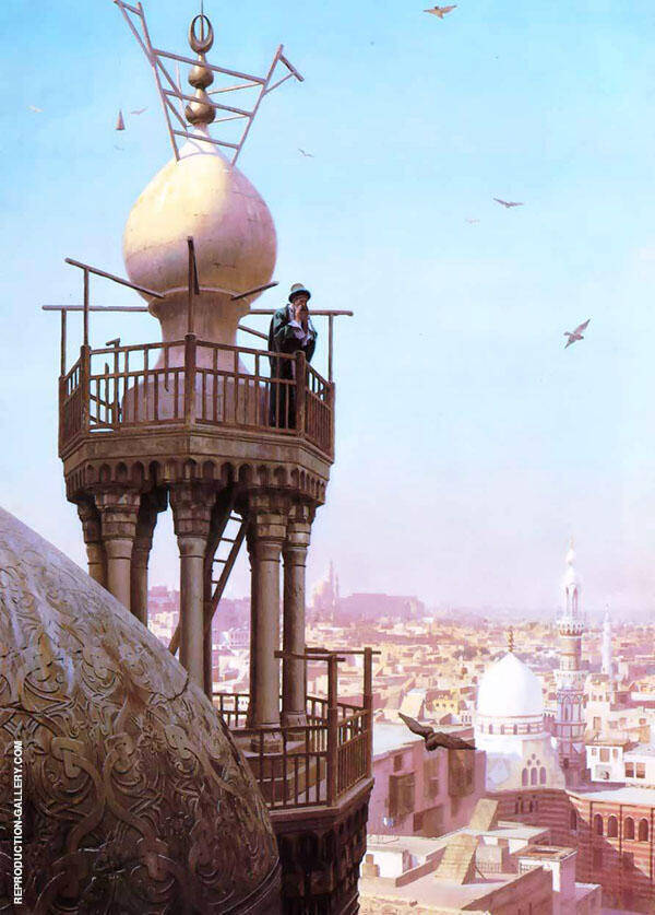 A Muezzin Calling The Faithful to Prayer 1878 Painting By Jean Leon Gerome