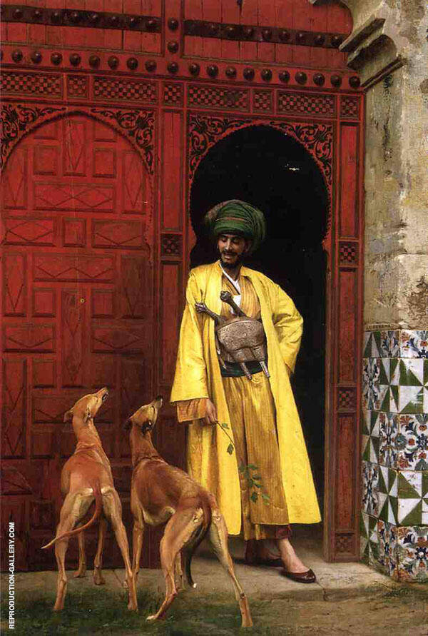An Arab and His Dogs 1875 Painting By Jean Leon Gerome