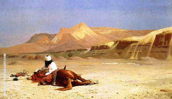 An Arab and His Horse in The Desert 1872 Painting By Jean Leon Gerome