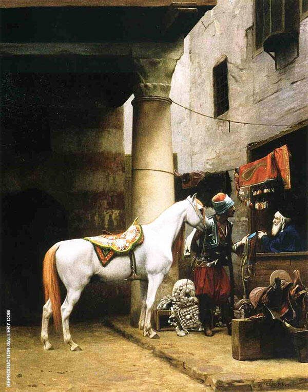 Arab Purchasing a Bridle 1881 Painting By Jean Leon Gerome