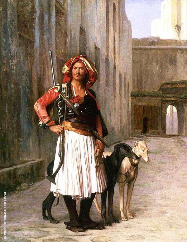 Arnaut from Cairo 1867 Painting By Jean Leon Gerome - Reproduction Gallery