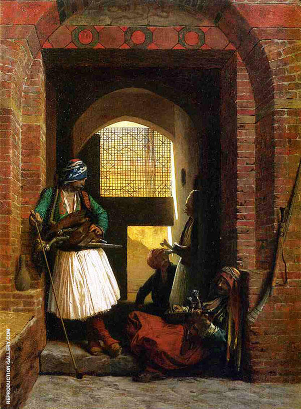 Arnaut Guards in Cairo 1861 Painting By Jean Leon Gerome