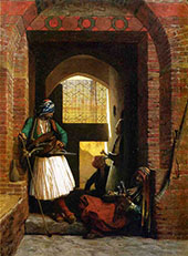 Arnaut Guards in Cairo 1861 By Jean Leon Gerome