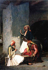 Arnaut Playing Chess 1859 By Jean Leon Gerome