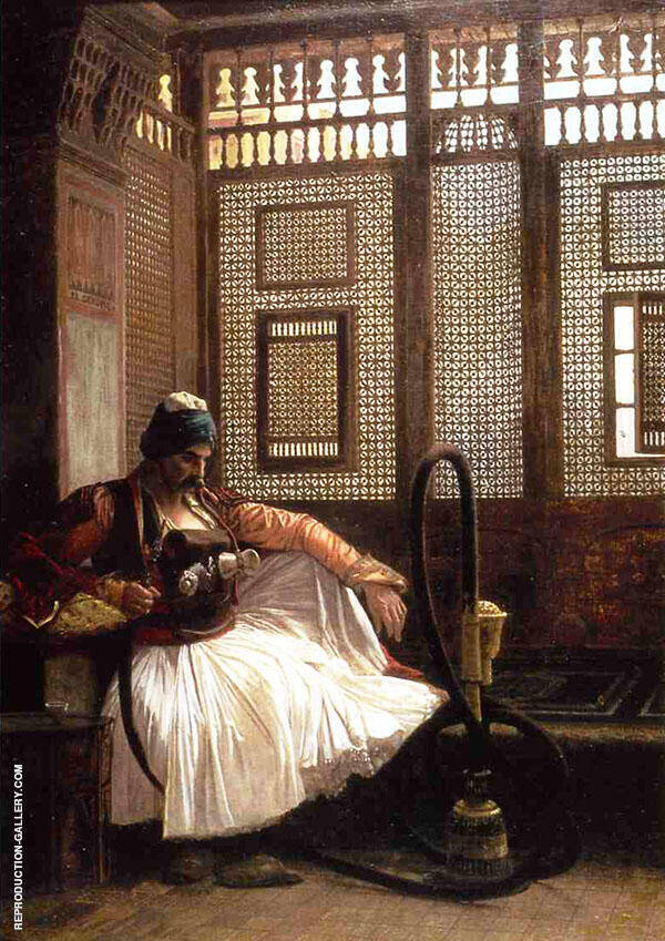 Arnaut Smoking 1865 Painting By Jean Leon Gerome - Reproduction Gallery