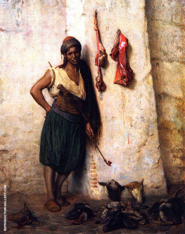 A Turkish Butcher Boy in Jerusalem By Jean Leon Gerome