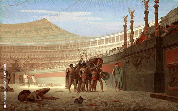 Ave Caesar Morituri Te Salutant By Jean Leon Gerome
