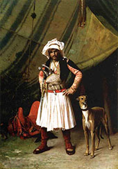 Bashi Bazouk and His Dog 1870 By Jean Leon Gerome