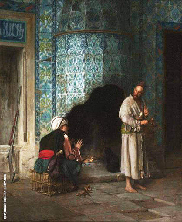 A Chat by The Fireside 1881 By Jean Leon Gerome