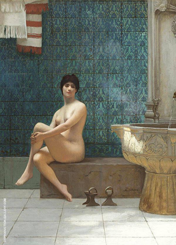 Bather at The Piscine de Brousse By Jean Leon Gerome