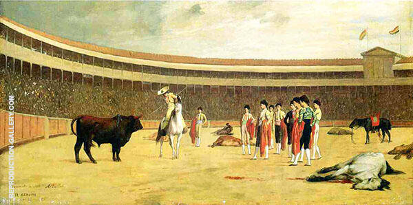 Bull and Picador 1867 By Jean Leon Gerome