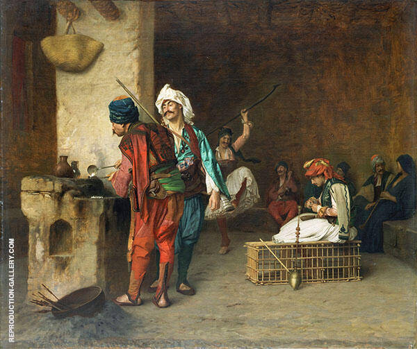 Cafe House Cairo aka Casting Bullets 1883 By Jean Leon Gerome