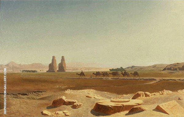 Caravan Passing The Colossi of Memnon Thebes By Jean Leon Gerome