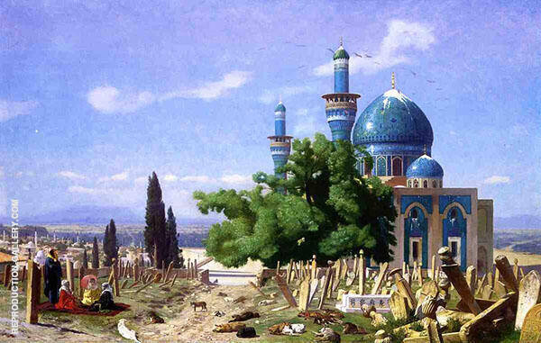 Cemetery Gone to Seed aka The Green Mosque 1876 By Jean Leon Gerome