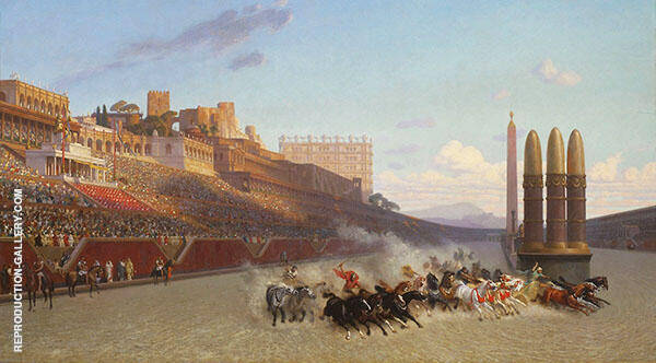 Chariot Race 1876 By Jean Leon Gerome