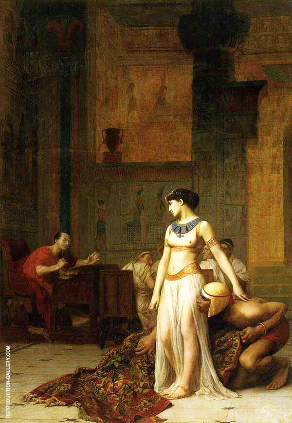 Cleopatra and Julius Caesar 1866 By Jean Leon Gerome