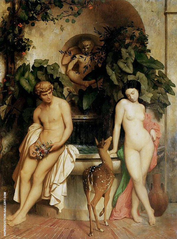 Daphnis and Chloe By Jean Leon Gerome